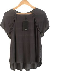 Zara Shirt - Size USA M  (MEX  28) Khaki Colour